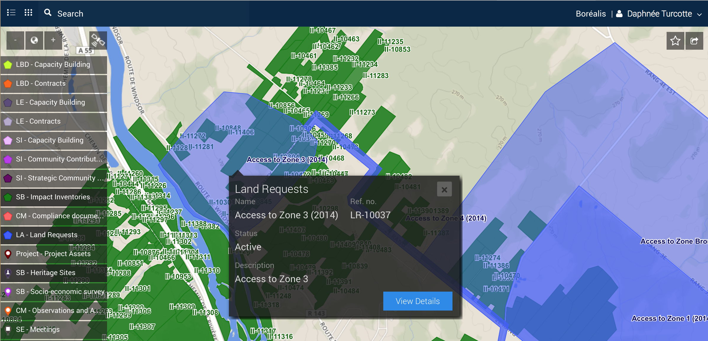 Land Access Interface